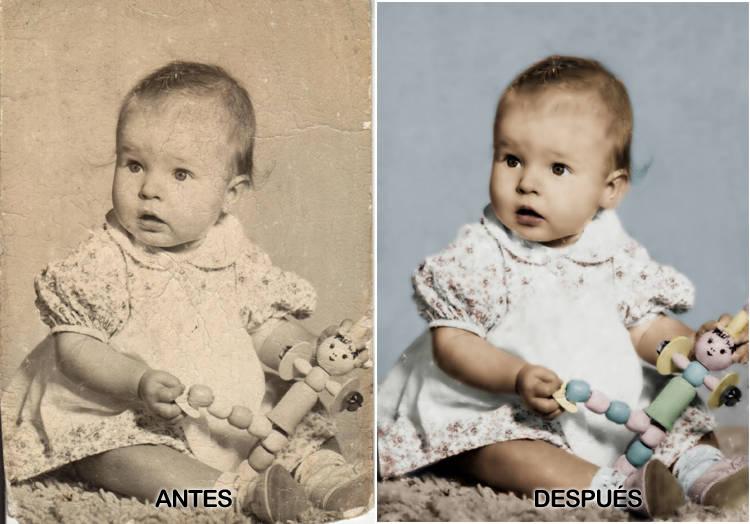 Colorear foto antigua